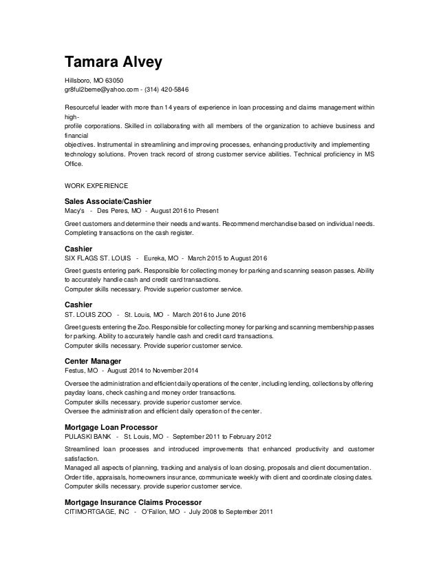 tamara alvey resume 2016