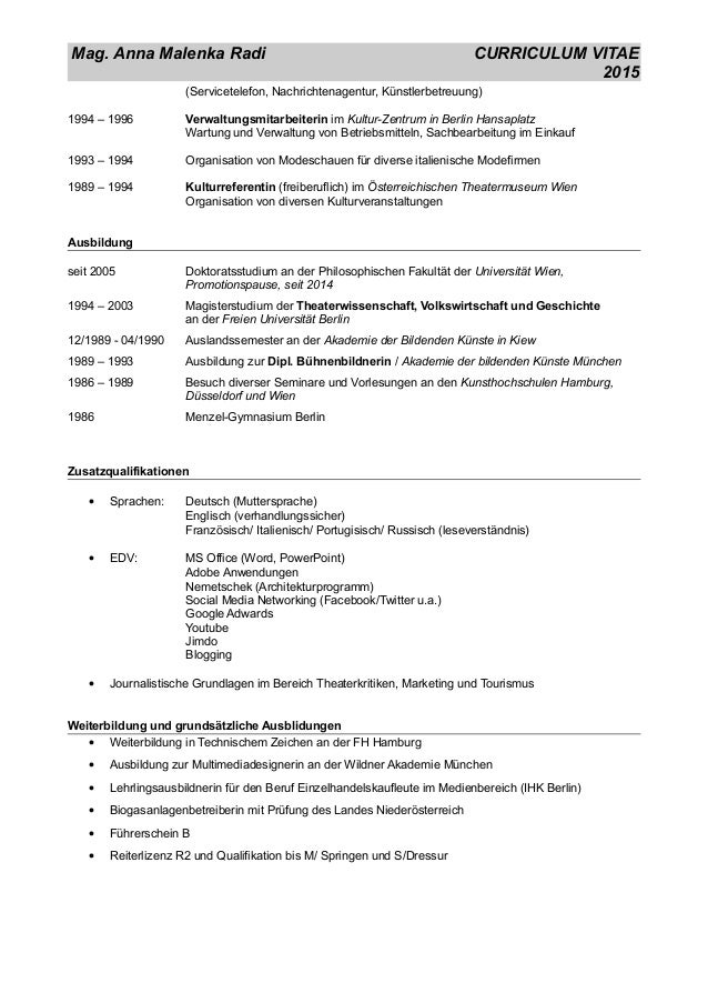 LebenslaufMamagement_September2015 Slide 2
