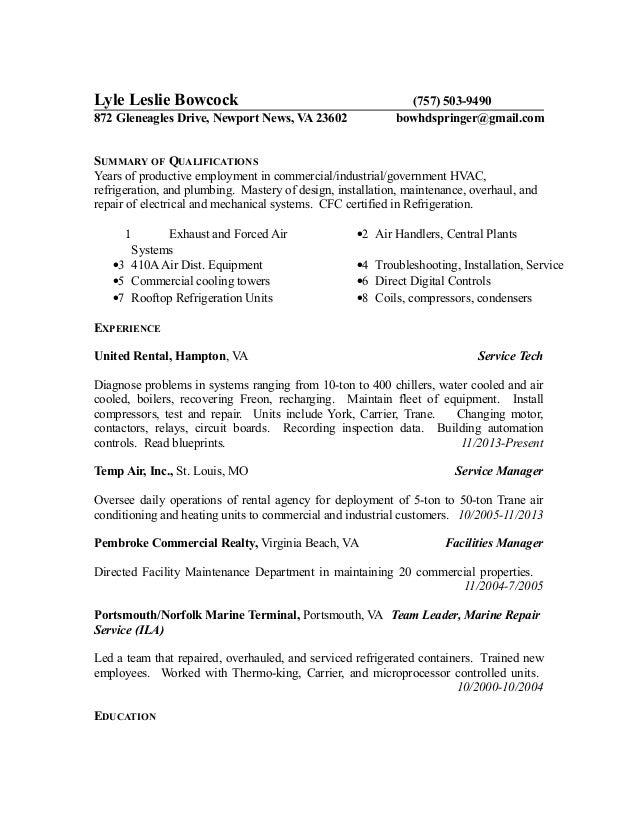 New Resume HVAC 6-5-15