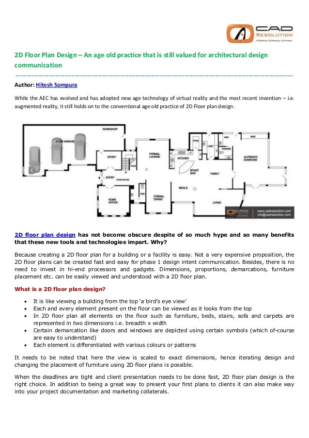 2D Floor Plan Design An age old practice that is still valued for a