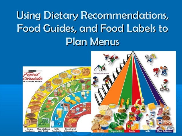 Using Dietary Recommendations, Food Guides, and Food Labels to Plan Menus