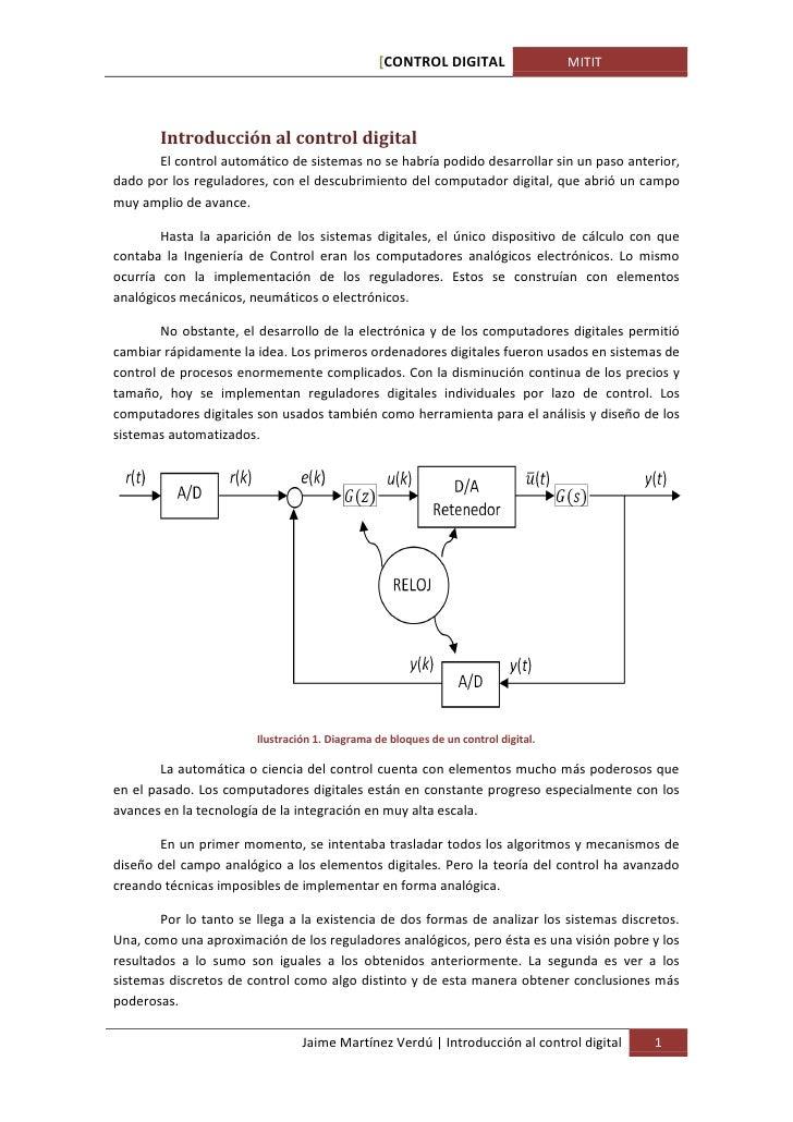 [CONTROL DIGITAL                    MITIT       Introducción al control digital       El control automático de sistemas no...