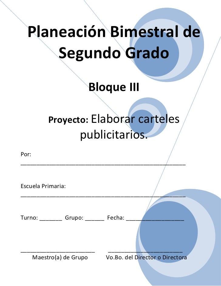2do grado bloque iii - proyecto 3