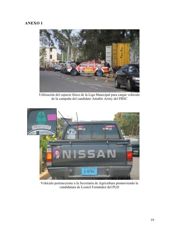 ANEXO 1          Utilización del espacio físico de la Liga Municipal para cargar vehículo               de la campaña del ...