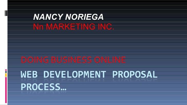 DOING BUSINESS ONLINE NANCY NORIEGA  Nn MARKETING INC.