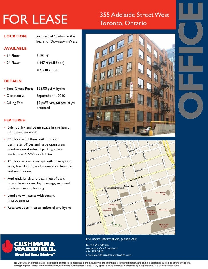 355 Adelaide Street West FOR LEASE                                                                              Toronto, O...