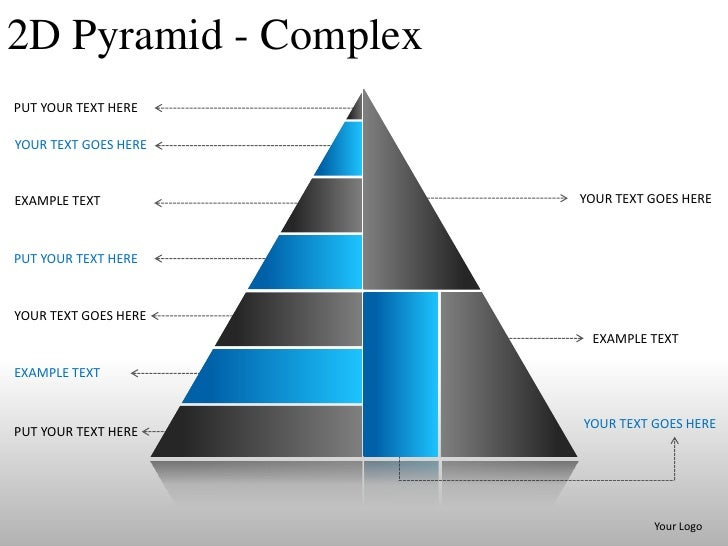 2d pyramid powerpoint presentation templates and slides, Modern powerpoint