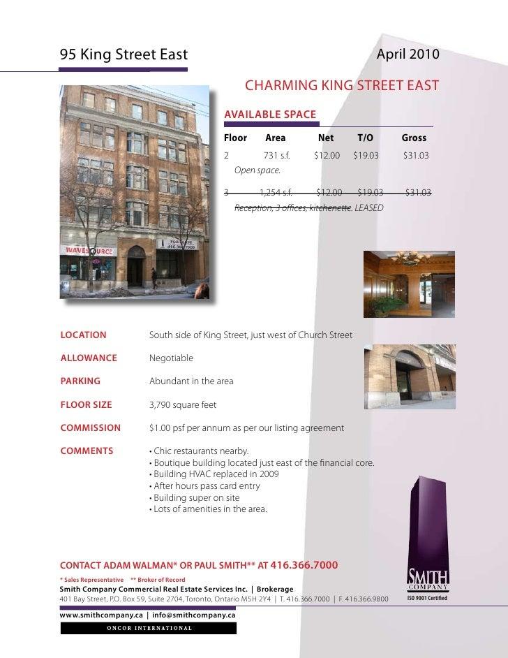 95 King Street East                                                                              April 2010               ...
