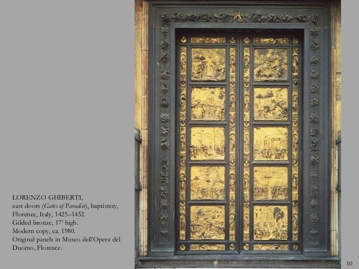 9; 10. & Early Renaissance - Italy 1400-1500