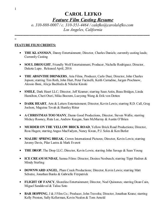 casting resumes