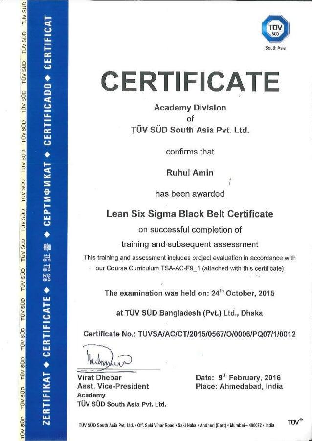 Lean Six Sigma Black Belt Certificate