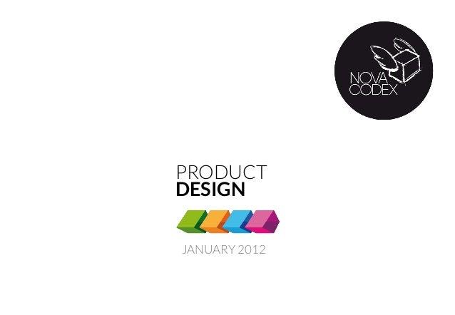 JANUARY 2012 PRODUCT DESIGN