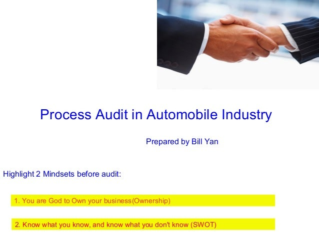audit of automobile industry essay