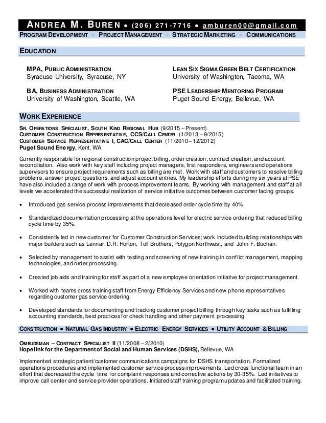 Andrea Buren Resume - Power