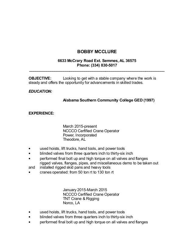 bobby u0026 39 s resume