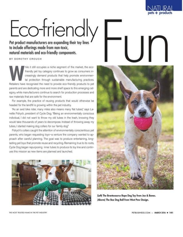 Pet Business March 16 EcoFriendly Pet Toys