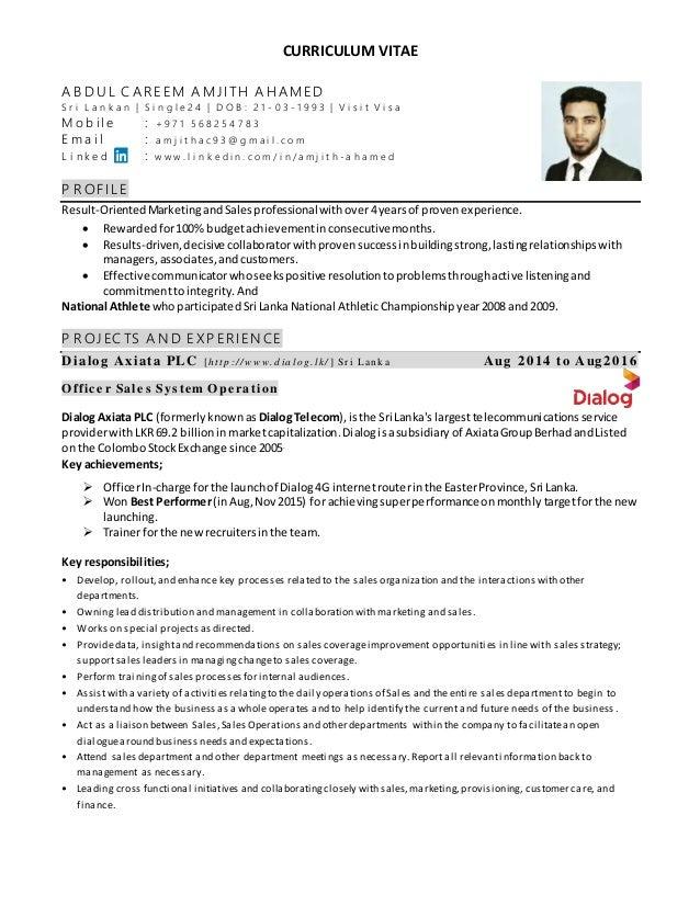 Cv Sales Executive Amjith