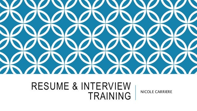 Resume & Interview TRAINING
