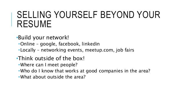 selling yourself on a resumes