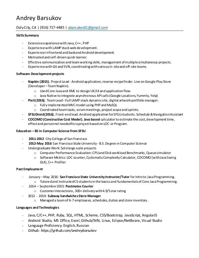 Russian java resume top personal statement writers sites for college