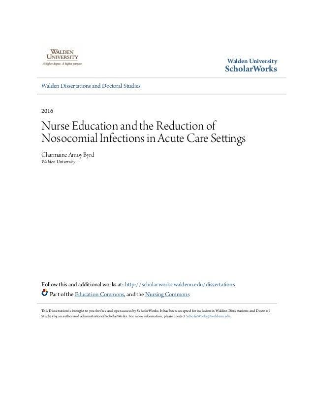 Dissertation nurse education