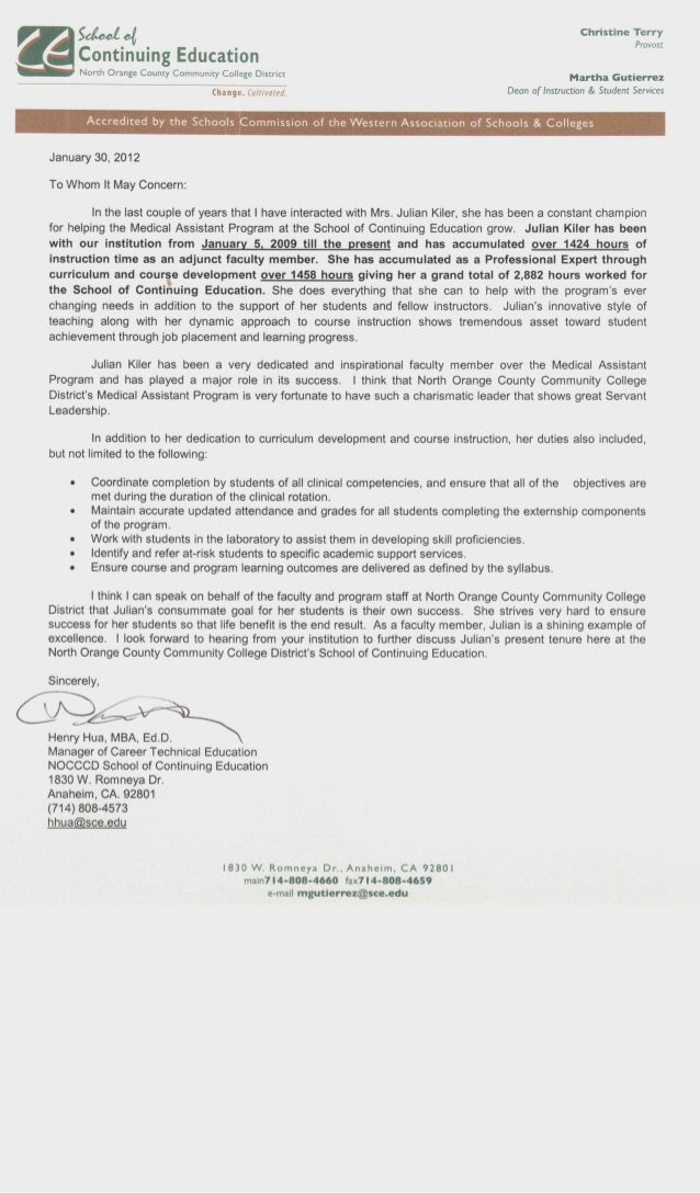 Henry Hua Recommendation Letter