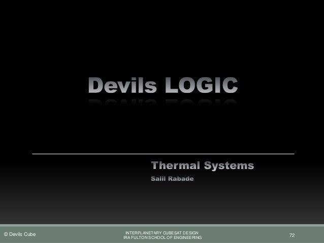 Devils Logic Pdr Presentation