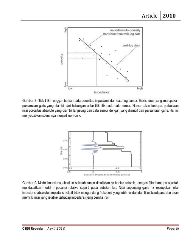 Pemodelan dengan seismik inversi cseg recorder april 2010 page 9 10 article 2010 gambar ccuart Gallery