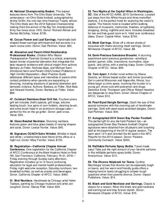 AFCC Silent Auction Catalog