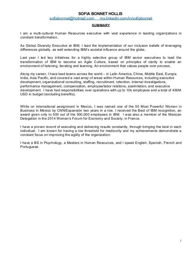 Sofia Bonnet Hollis Bio and Resume External June 2015 v2