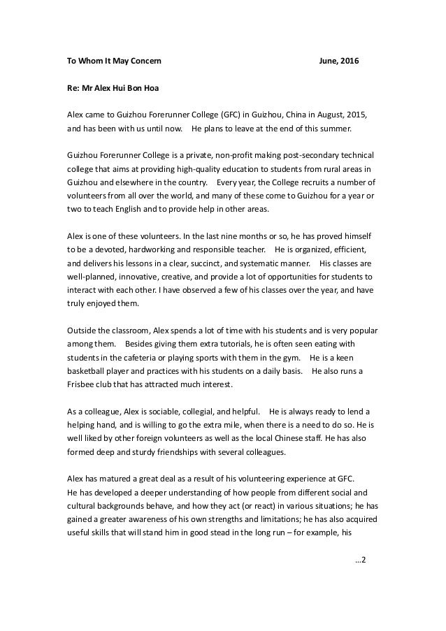 Dr  Max HuiBonHoa GFC Reference Letter