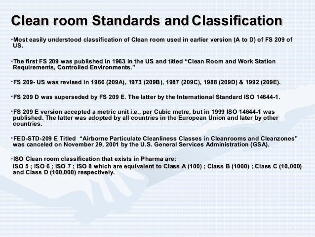 Clean Room Pressure Differential Standard