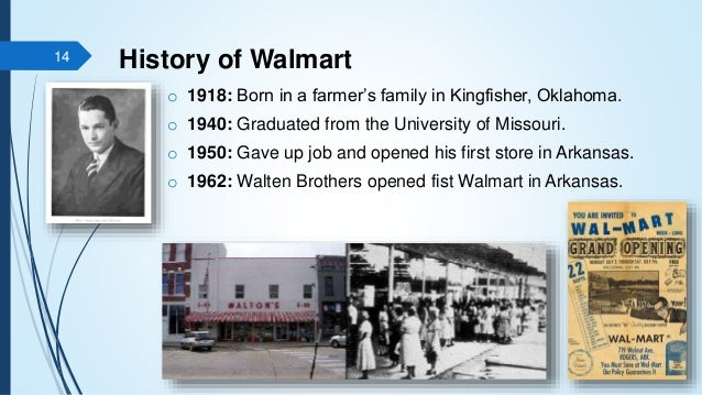 walmart history Retail giant walmart has a new ceo, doug mcmillon he faces considerable challenges leading the largest company in the world fortune's brian o'keefe profiled mcmillon in the new fortune 500 issue here are nine facts about the retail company that may surprise you: 1 walmart earned $4857.
