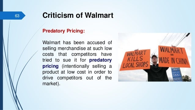 wal mart trial on predatory pricing City, wal-mart make no move to settle  let the trial proceed a wal-mart at 6th and wakarusa would be the beginning of west  wal-mart uses predatory pricing,.