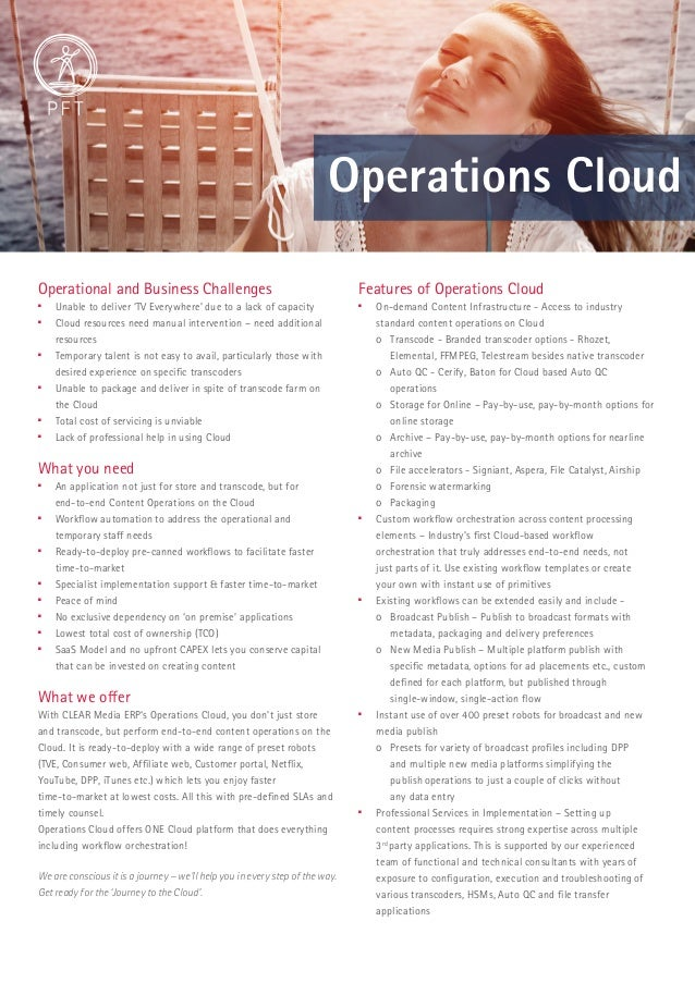 Operations Cloud  Operational and Business Challenges   Unable to deliver 'TV Everywhere' due to a lack of capacity   Cl...