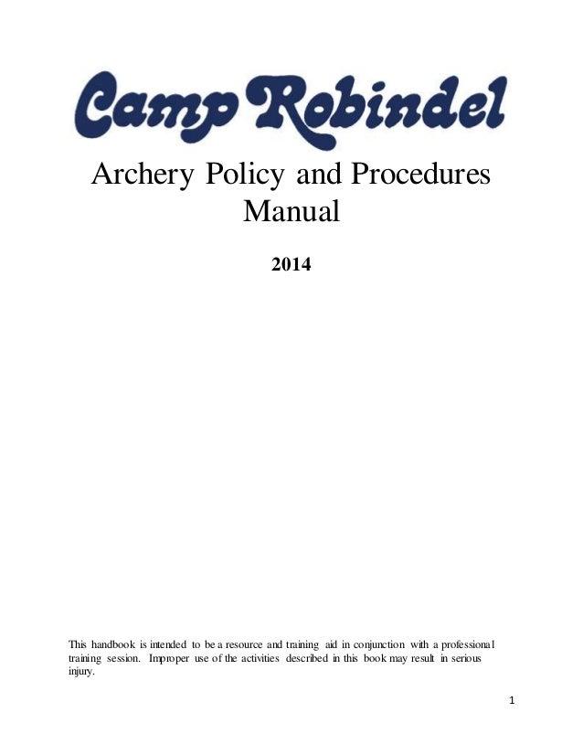 writing a policies and procedures handbook