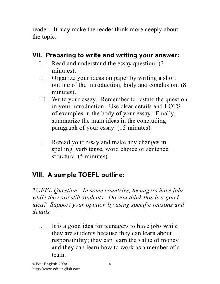 toefl essay ebook Available in ebook and  this test-prep course is an online tutorial that helps students prepare for the toefl ibt test by creating a personalized learning path.