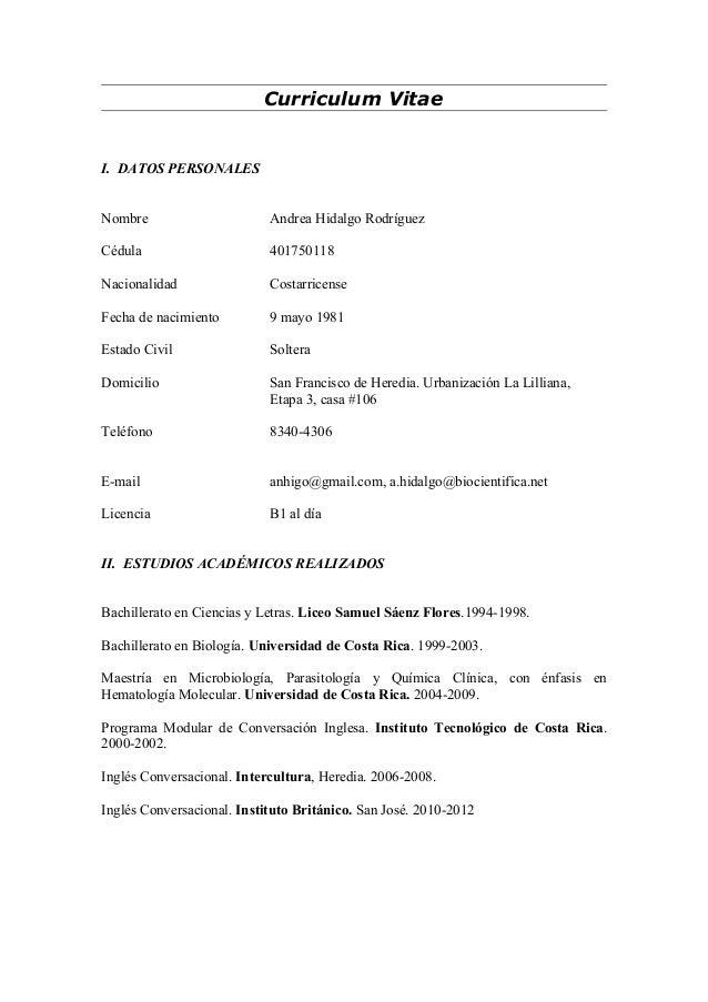 Curriculum Vitae Ultima Version Ahr