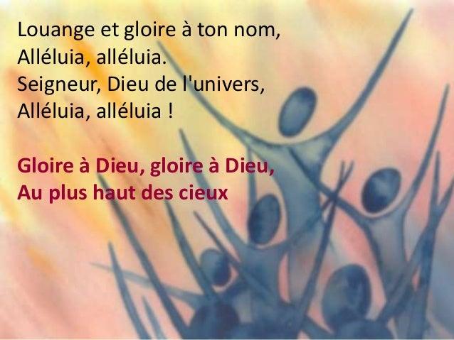 Pour nous, il fit des merveilles, Alléluia, alléluia ! Eternel est son amour, Alléluia, alléluia ! Gloire à Dieu, gloire à...