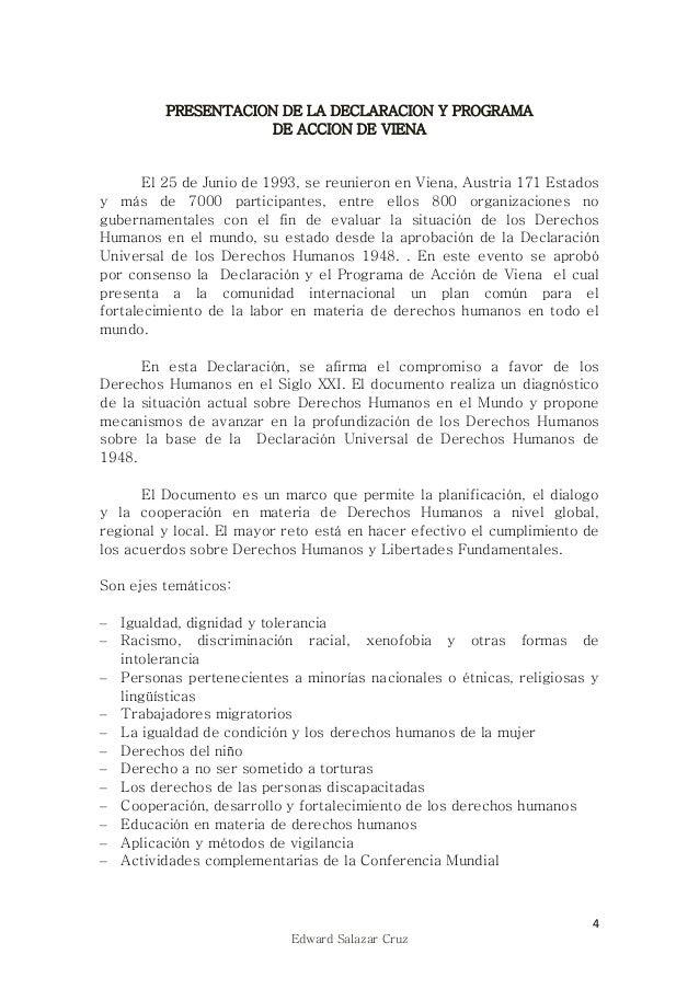 Edward Salazar Cruz. Instrumentos de Derechos Humanos ii. Declaracion…