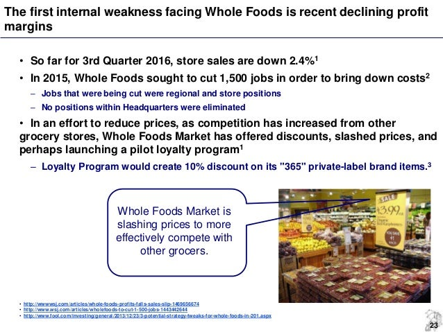 whole foods strategic audit Whole foods market follows an organizational plan that roughly follows the hybrid departmentalization model shown on page 235 of our textbook one of the two co-chief.