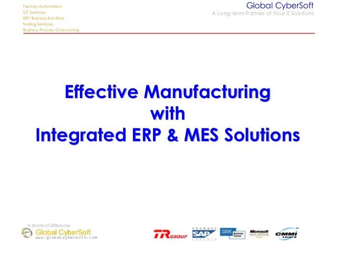 2 Effective Manufacturing Erp Mes