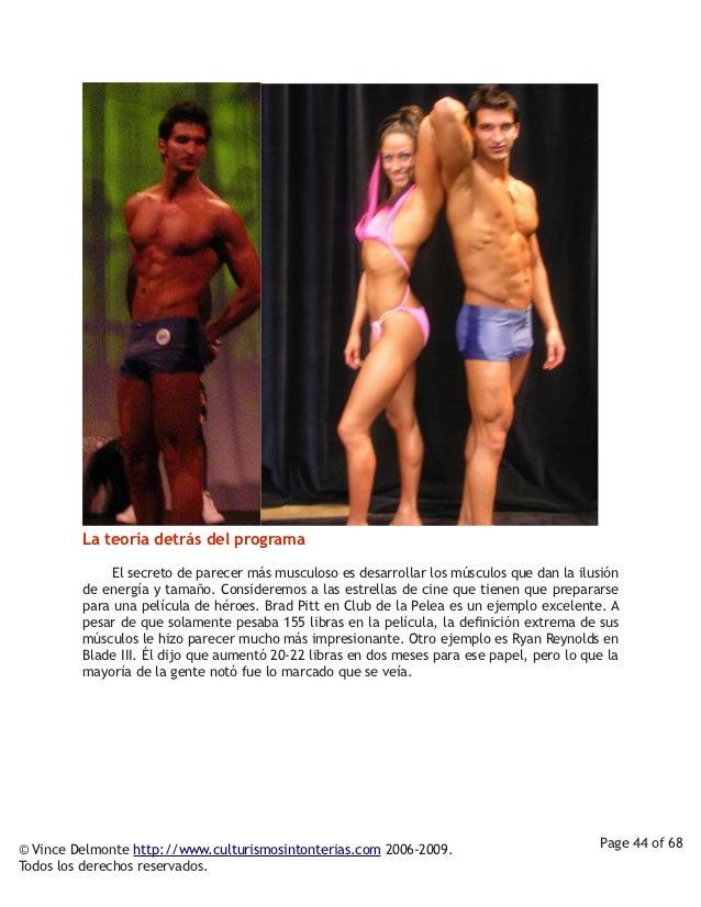 La teoría detrás del programa          El secreto de parecer más musculoso es desarrollar los músculos que dan la ...