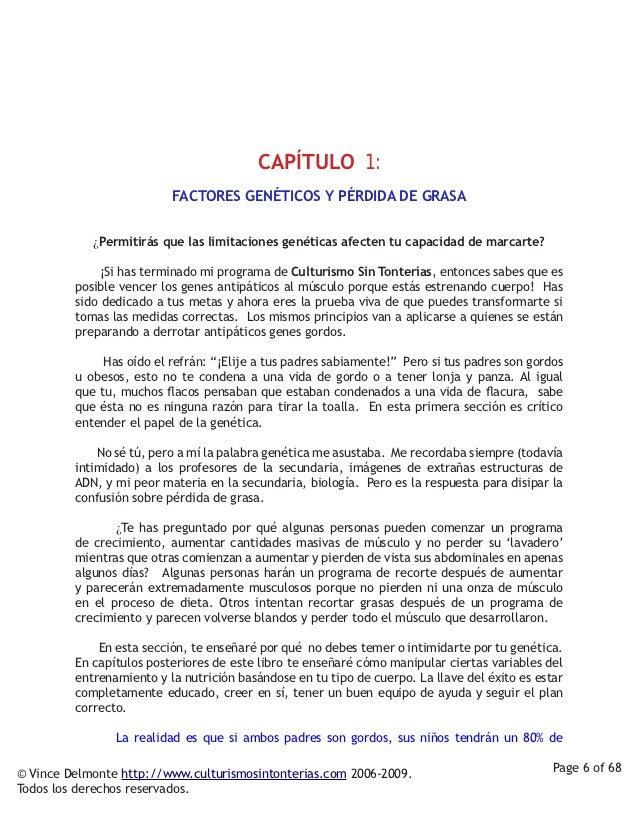 CAPÍTULO 1:                           FACTORES GENÉTICOS Y PÉRDIDA DE GRASA                      ¿Permitirás que las limi...