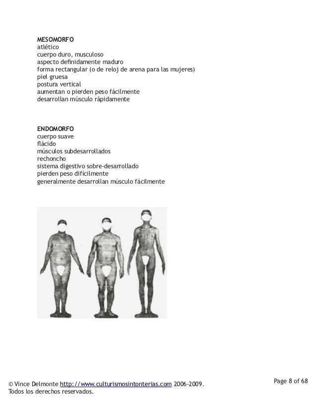 MESOMORFO         atlético         cuerpo duro, musculoso         aspecto definidamente maduro         forma rectangular (...