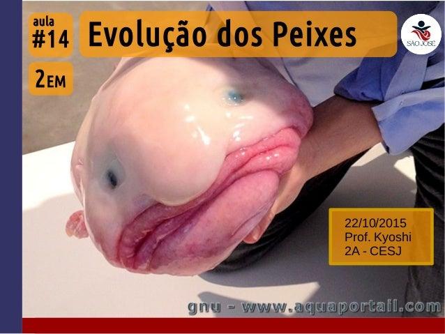 #14 22/10/2015 Prof. Kyoshi 2A - CESJ 2EM Evolução dos Peixes aula