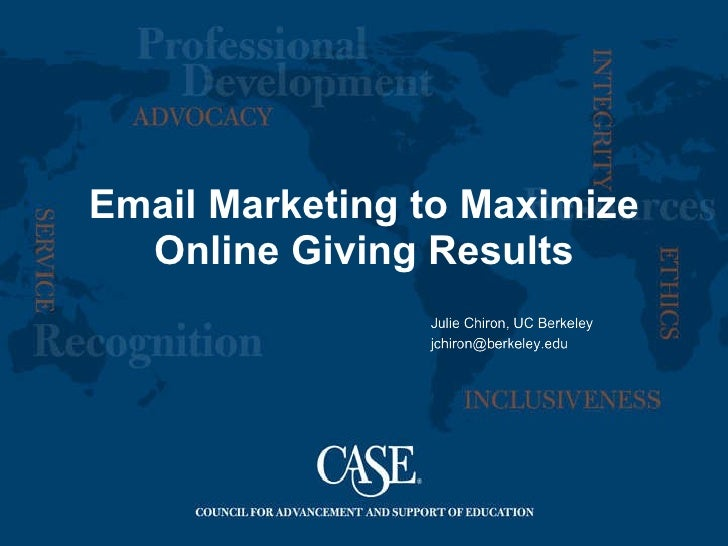 Email Marketing to Maximize Online Giving Results
