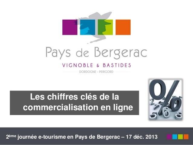 Les chiffres clés de la commercialisation en ligne  2ème journée e-tourisme en Pays de Bergerac – 17 déc. 2013