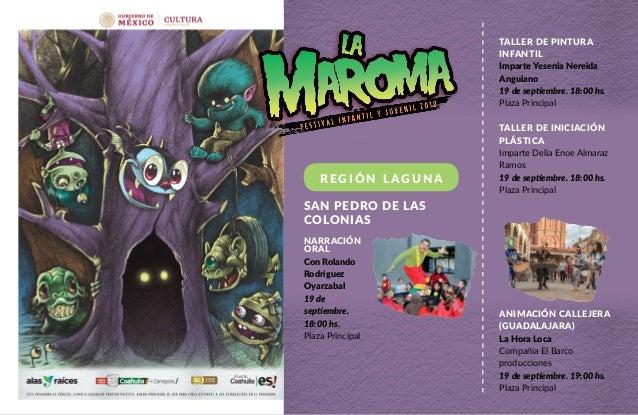 Regi�n Laguna Taller de pintura infantil Imparte Yesenia Nereida Anguiano 19 de septiembre. 18:00 hs. Plaza Principal Tall...