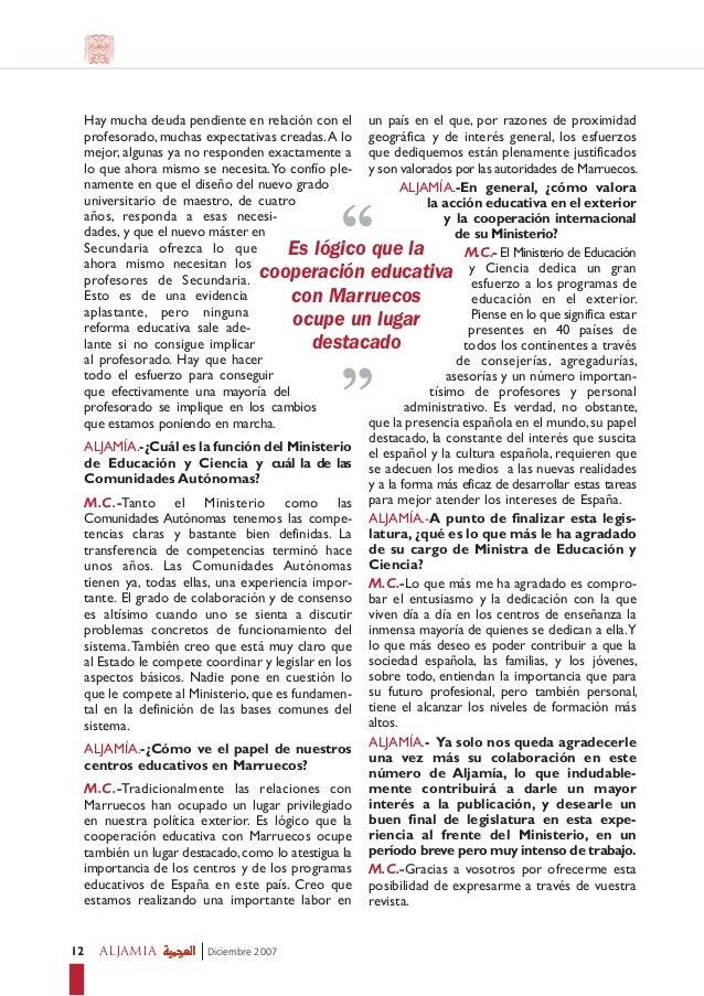 Entrevista con la ministra de educaci n for Educacion exterior marruecos